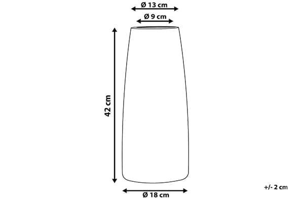 Размеры вазы Segovia