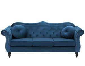 Трёхместный бархатный диван