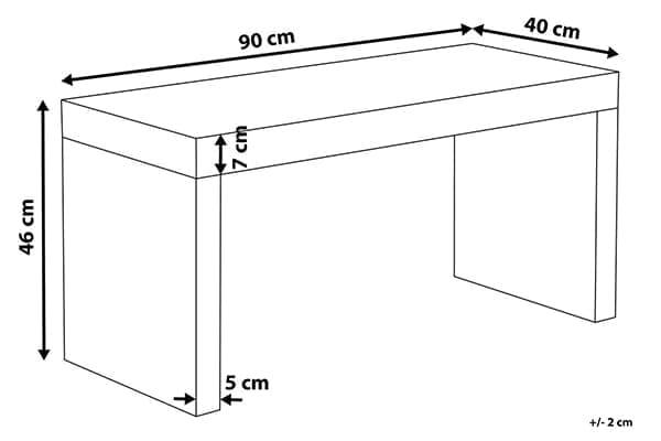 Размеры зеркального столика