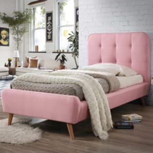 Розовая кровать односпальная