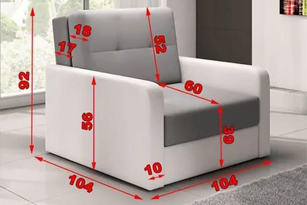 Размеры кресла Top