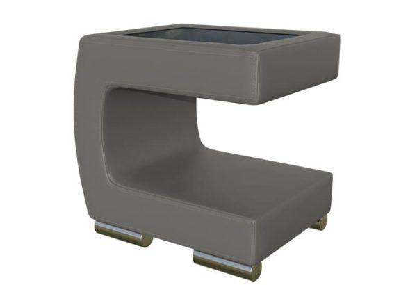 Прикроватный серый столик