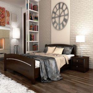 Недорогая деревянная кровать