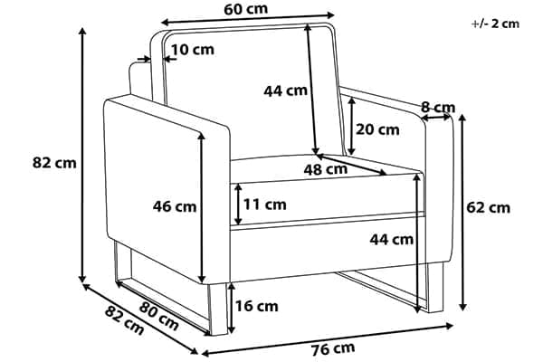 Размеры кресла Vind
