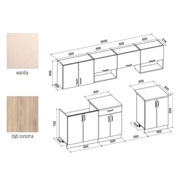 Кухонный гарнитур Viola260