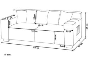 Размеры дивана Viskan