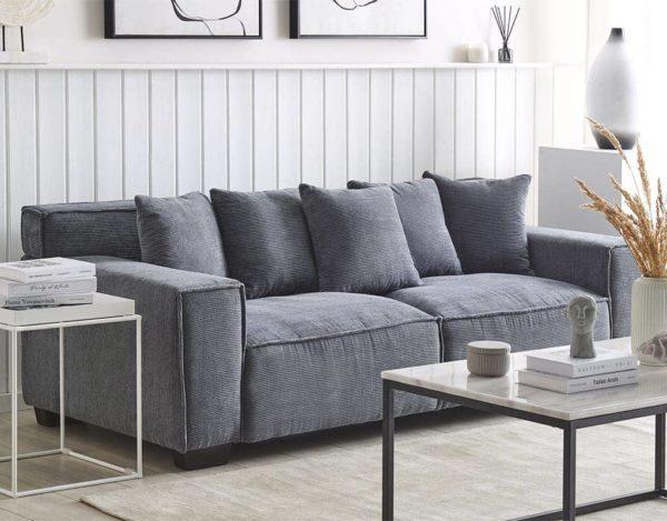 Прямой диван вельвет