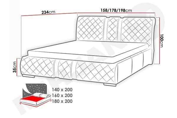 Размеры кровати Wiko